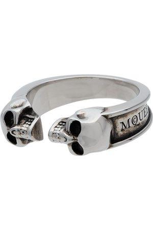 Alexander McQueen Thin Twin Skull Ring