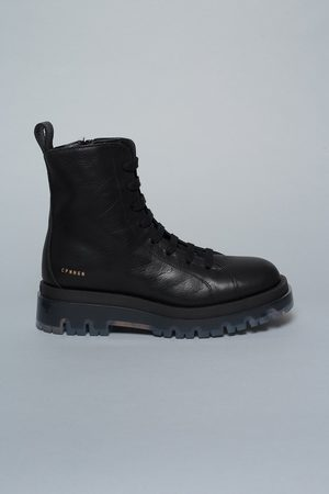 Copenhagen Shoes Women Lace-up Boots - Studio Vitello with Clear CPH1002