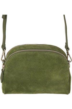 Fioriblu Women Purses - Viola Suede Crossbody Bag Olive