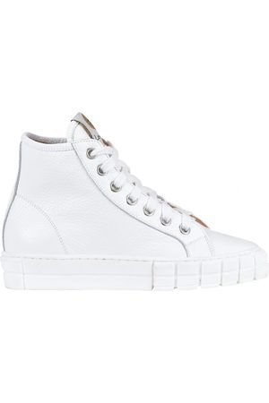 Lemaré Grainy leather high-top sneakers