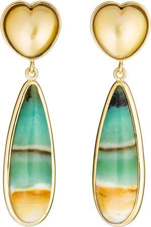 Guita M South Sea Pearl Heart Earrings