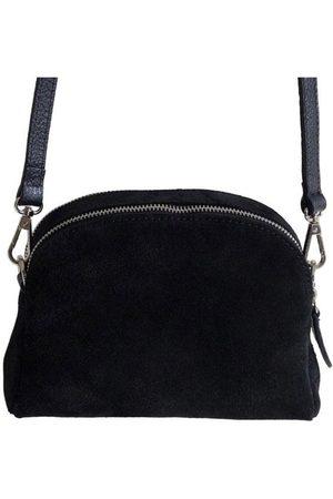 Fioriblu Viola Suede Crossbody Bag Black