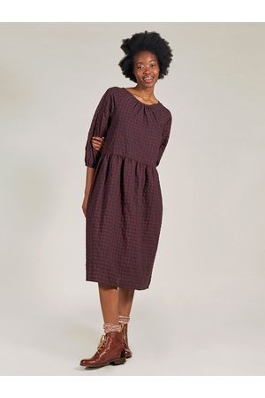Sideline Women Dresses - Teo Dress in Burg Check