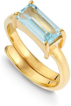 SVP JEWELLERY SVP Nirvana Blue Topaz Vermeil Adjustable Ring