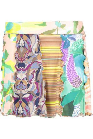 Missoni Women Printed Skirts - Womens Pattern Frill Mini Skirt