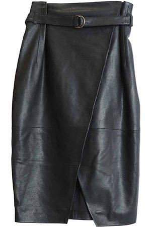 Berenice Jack Leather Midi Skirt