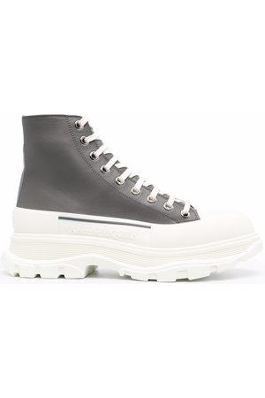 Alexander McQueen Tread Slick lace-up boots Grey