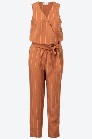 YAYA Women Jumpsuits - Striped Crossover Jumpsuit