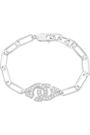 DINH VAN Menottes R15 Diamond Chain Bracelet - White Gold