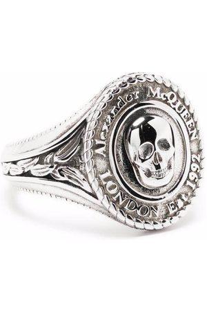 Alexander McQueen Medallion Skull Signet Ring