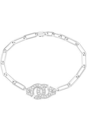 DINH VAN Women Bracelets - Menottes R12 Diamond Chain Bracelet - White Gold