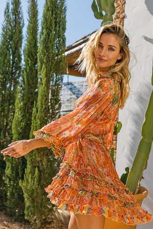Miss June Romi Dress - Peach