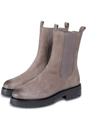 YAYA Soft leather boots with elastic at side