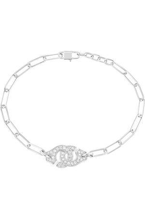 DINH VAN Menottes R10 Diamond Chain Bracelet - White Gold