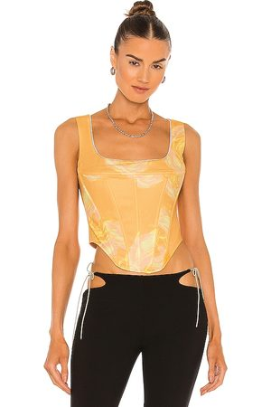 Miaou Campbell Corset in Yellow.