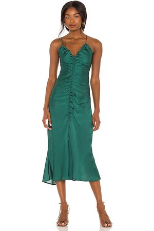 Free People Nothing Better Midi Slip in Green.