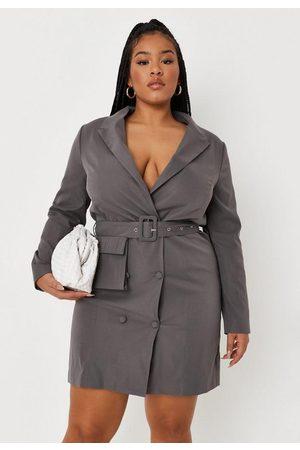 Missguided Plus Size Belted Blazer Mini Dress