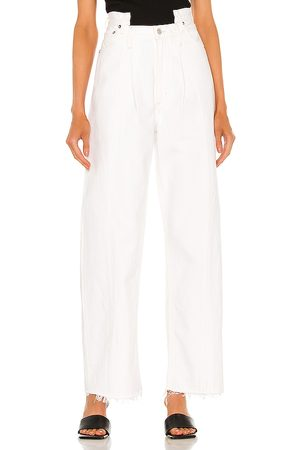 AGOLDE Pieced Angled Jean in White.