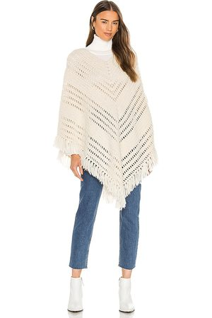 NILI LOTAN Hand Crochet Poncho in Ivory.