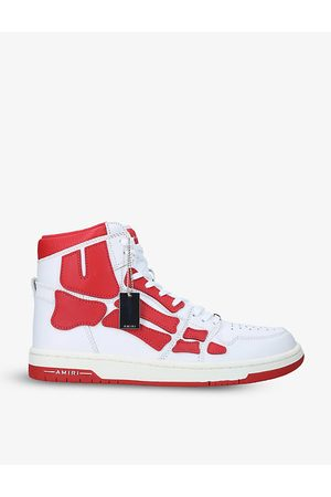 AMIRI Skel panelled leather high-top trainers