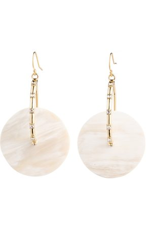 Akola Anja Gold Hoop Earring with Luxury Crystal Accents & Horn