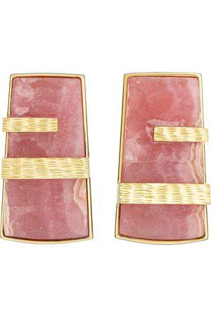 Guita M Rhodochrosite Rock Earrings