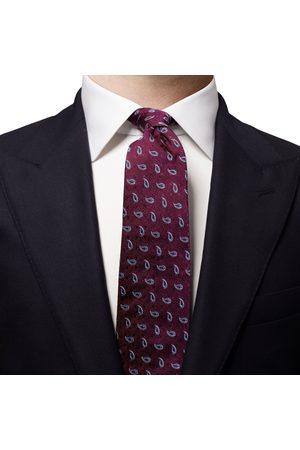 Eton Burgundy with Sky Blue Paisley Silk Tie A0003259479