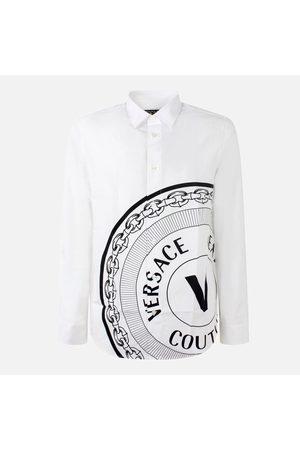 VERSACE Camicia manica lunga con stampa logo