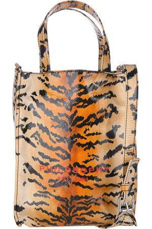 Philosophy Tiger-print high-shine tote
