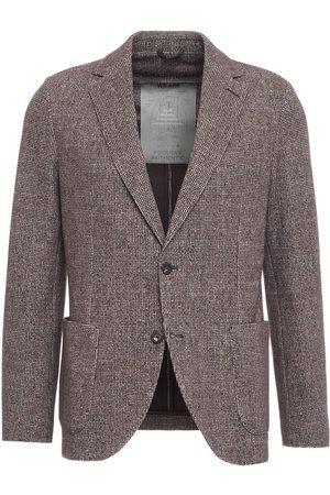 Circolo Men Blazers - Blazer in houndstooth pattern