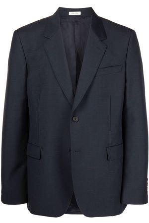 Alexander McQueen Single Breasted Suit Jacket Navy
