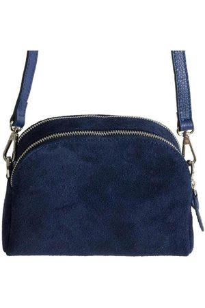 Fioriblu Viola Suede Crossbody Bag Navy