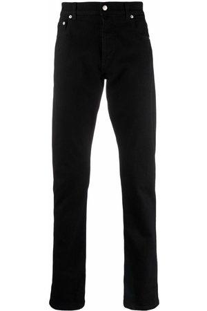 Alexander McQueen Logo Embroidered Skinny Jeans Black