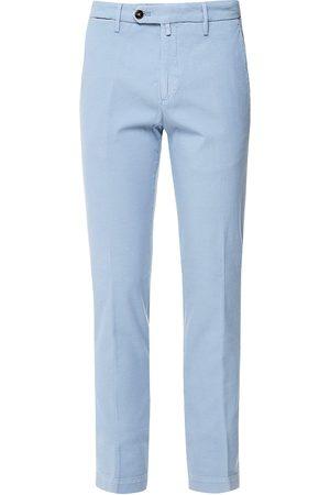 Briglia 1949 1949 - Sky Blue Coloured Slim Fit Cotton Stretch Chinos BG04 321030