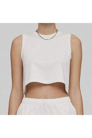 Les Girls Les Boys Les Girl Les Boy White Deconstructed Cropped Vest