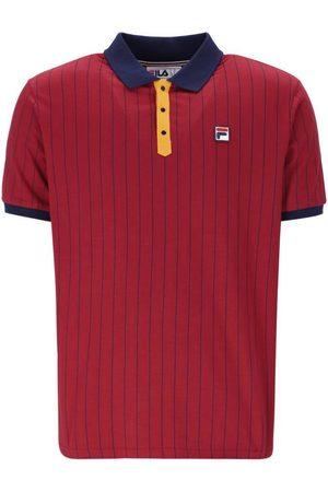 Fila BB1 Classic Striped Polo - Rhubard/Peacoat