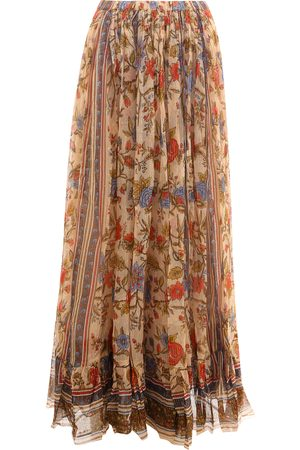 Mes Demoiselles Long skirt with floral print