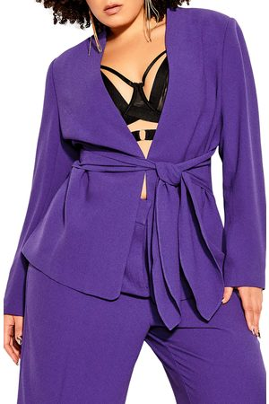 City Chic Plus Size Women's Elegance Tie Front Blazer