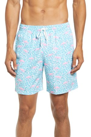 Chubbies Men's Domingos Flamingos 7-Inch Swim Trunks