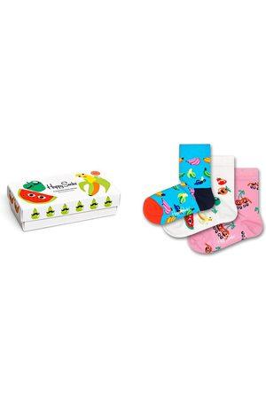 Happy Socks Toddler Girl's Kids' Assorted 3-Pack Fruit Crew Socks