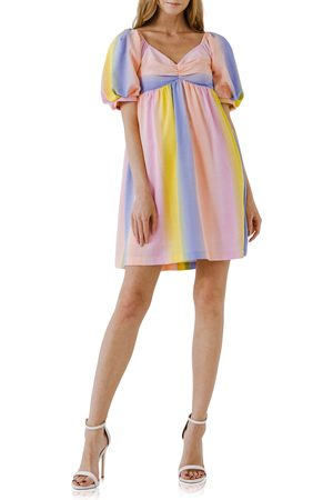 English Factory Women's Stripe Babydoll Dress