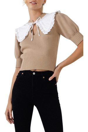 ENGLISH FACTORY Women's Ruffle Collar Sweater