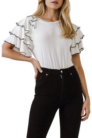 English Factory Women's Ruffle Sleeve T-Shirt