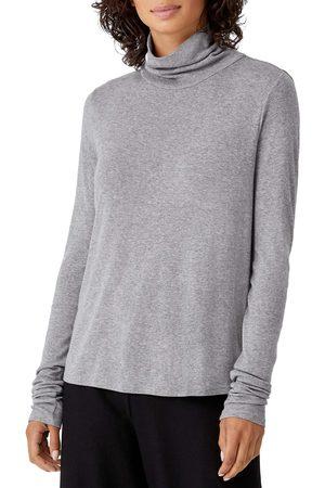 Eileen Fisher Women's Scrunch Neck Top