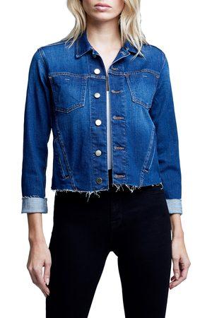 L'Agence Women's Janelle Raw Cut Slim Denim Jacket