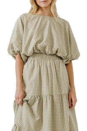 English Factory Women's Dolman Sleeve Crop Top