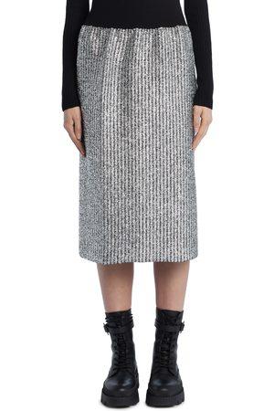 Moncler Genius Women's 2 Moncler 1952 Metallic Knit Pencil Skirt