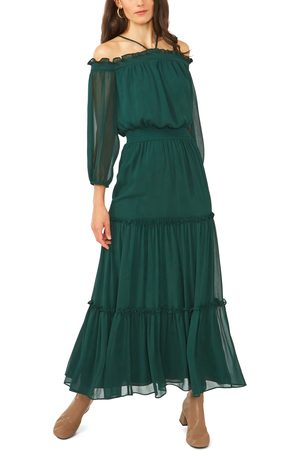 1. STATE Women's Halter Long Sleeve Maxi Dress