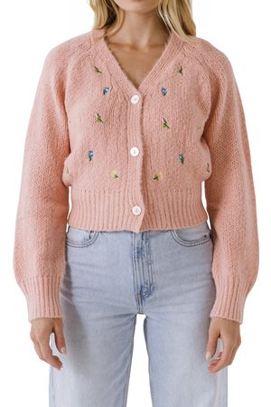 English Factory Women's Embroidered Cardigan