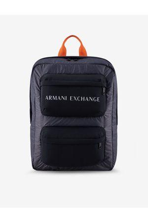 ARMANI EXCHANGE Men Rucksacks - Backpack Navy Polyamide, Polyester